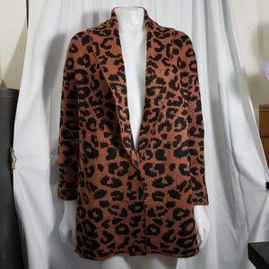 Leopard Print Cardigan Sweater NWT